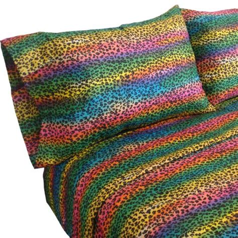bright multi colored comforters rainbow youth teen leopard skin print bright multi color