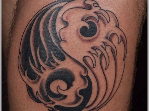 yin yang wave tattoo tattooimages biz