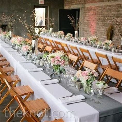 grey table runner wedding white tablecloths gray runners and pink flowers gorg