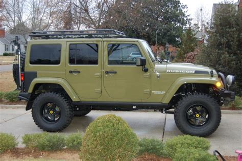 commando green jeep lifted 2013 wrangler unlimited rubicon quot commando green