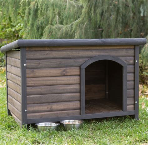 dog house shelter log cabin dog house weather resistant wood large outdoor pet shelter cage kennel ebay
