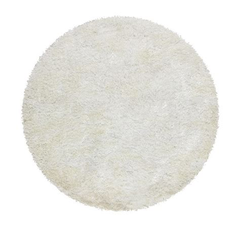 White Circle Rug by Deluxe Shag White Rug Temple Webster