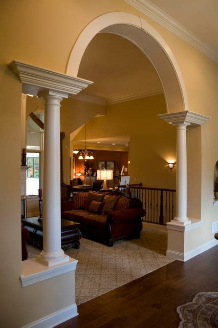 Arch Between Kitchen And Living Room by The Mediterranean Living Room Cleveland By