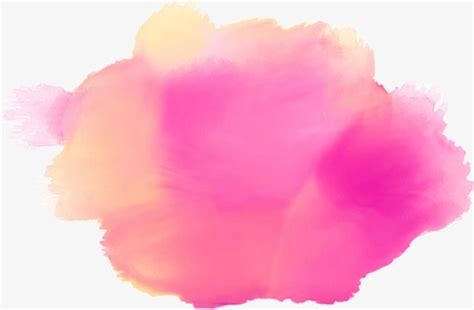 pink stain watercolor splash dreamy effect png