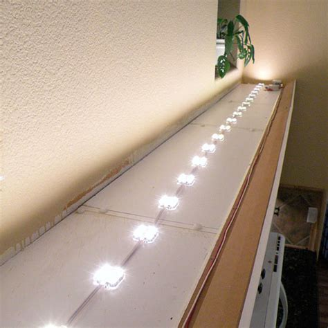 above kitchen cabinet lighting above cabinet led lighting using led modules diy led