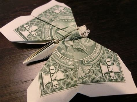 butterfly money origami animal insect vincent the artist