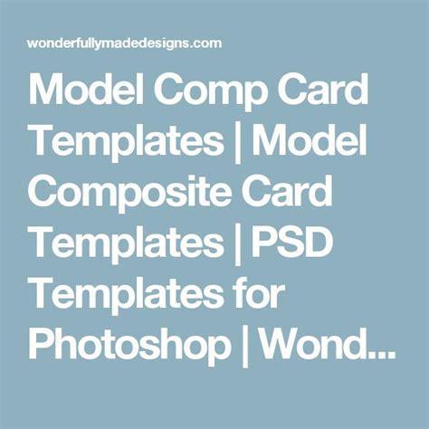Comp Card Template Psd by Best 25 Model Comp Card Ideas On Model