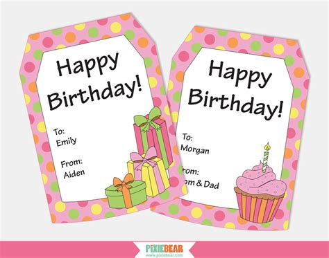 printable birthday gift tags templates birthday gift tags personalized gift tags personalized