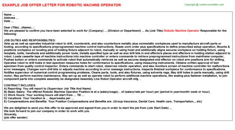 Motivation Letter Robotics Robotic Machine Operator Title