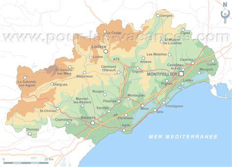 Herault location vacances Carte de location de gites Herault