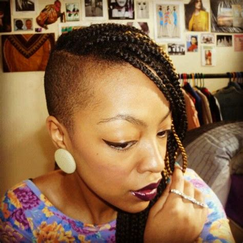 short braids on shaved head 96 best natural hair shaved sides images on pinterest