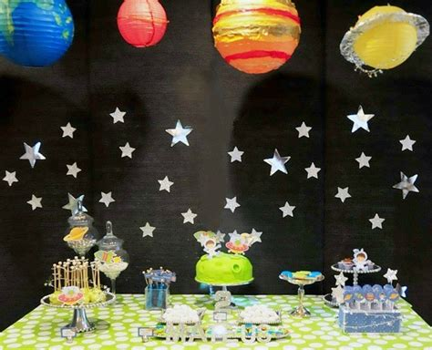 How To Decorate A Log Home by Space Themed Birthday Party Guest Feature Celebrations