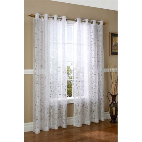 Sheer Grommet Curtains Couture Triumph Burnout Curtains 104x84 Quot Grommet Top Semi Sheer 6214f Save 44
