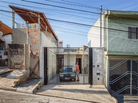 Concrete Block House beauty on a budget in brazil low cost concrete block house
