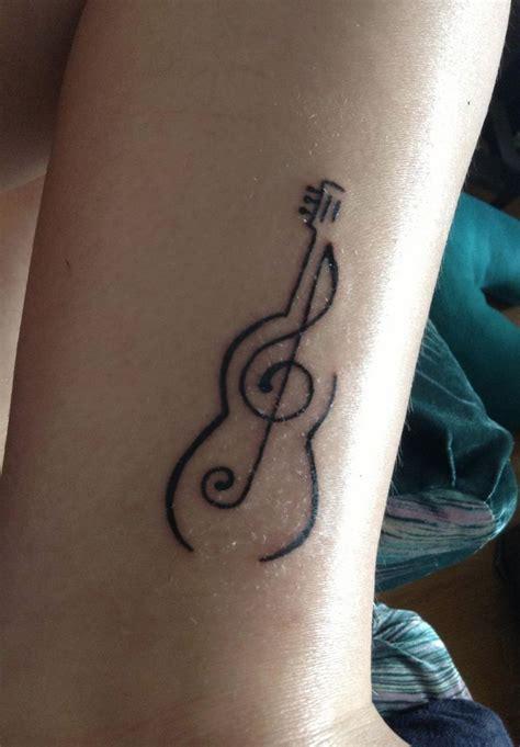 simple tattoo beautiful guitar tattoo simple but beautiful tattoos pinterest