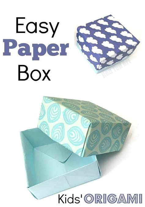 how to make a paper box template how to make a paper box tutorial paper crafts diy gift
