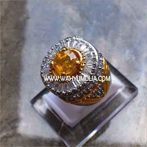 Batu King Shaphire cincin permata yellow safir sold permatasatu