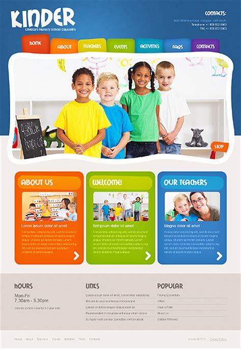 download free website templates for kindergarten colorful day care nursery kindergarten kids website