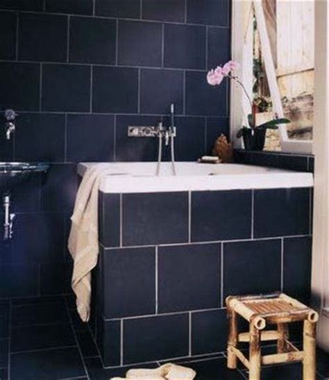 navy blue tiles bathroom navy bathroom ladies room pinterest