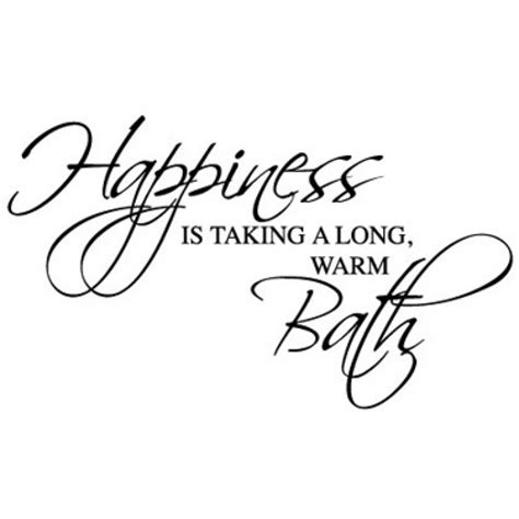 Mirrored Wall Stickers happiness is taking a bath wall sticker decal