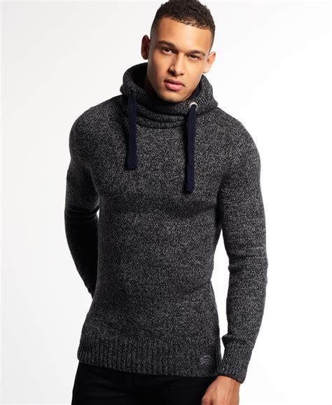 Winter Twist Hoodie Navy new mens superdry sd knit hoodie navy grey twist ebay