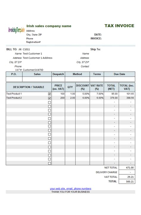 free template for invoice for services rendered 3