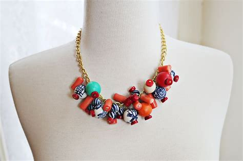 simple beaded statement necklace x2 a beautiful mess
