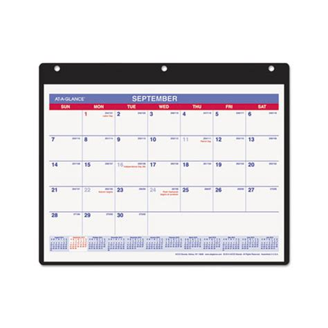 at a glance monthly desk wall calendar aagsk700