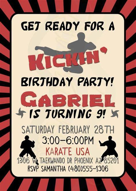 printable karate invitation 37 best parties karate images on pinterest karate cake