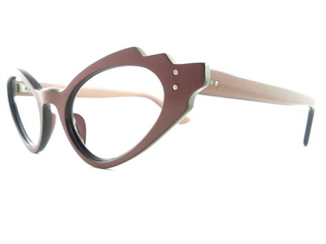 Barrel Eyeglasses Brown vintage eyeglasses frames eyewear sunglasses 50s vintage