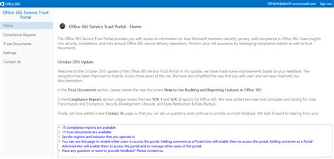 Office 365 Portal Requirements Announcing The Office 365 Service Trust Portal Office Blogs