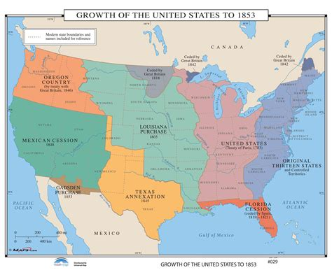 expansion of the united states map 029 growth of the united states to 1853 kappa map