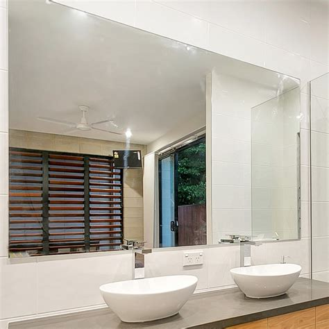 1500x900mm bathroom mirror large bevel edge wall mounted reflekta bevelled edge mirror 1500x900mm highgrove bathrooms