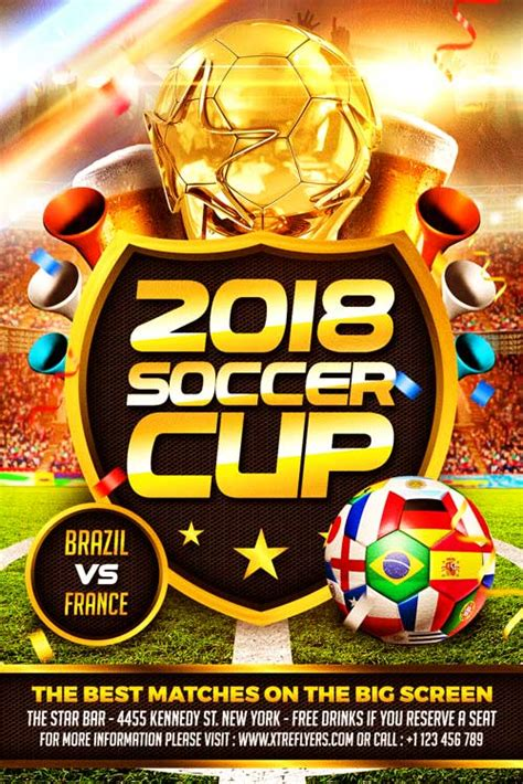 Soccer World Cup Flyer Template Xtremeflyers Ad Template 2018