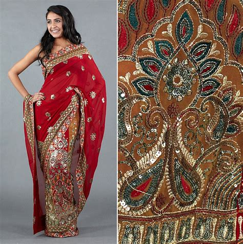 The Work Designer High Style by Lehenga Brocade Heavy Embellished High Quality Saree