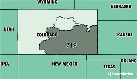 what us area code is 719 where is area code 719 map of area code 719 colorado