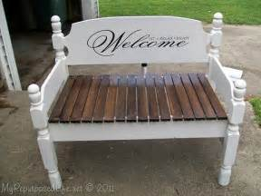 Bed Frame Bench Diy How To Make An Headboard Into A Cool Bench Diy For