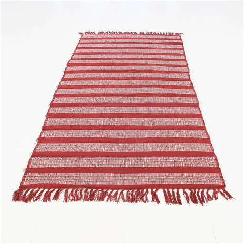 cotton dhurrie rug jaya handmade cotton dhurrie rug by paper high notonthehighstreet