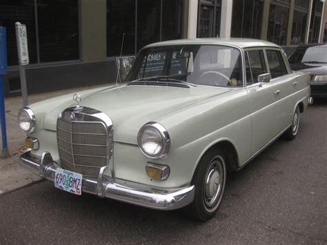 mercedes diesel parked cars 1966 mercedes 200 diesel