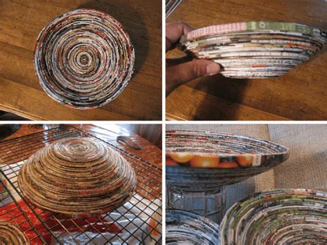 How To Make Paper Bowls From Magazines - 10 diy rolled paper crafts from recycled magazines