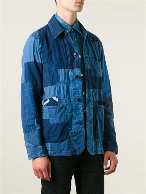 Patchwork Jacket Mens - lyst blue blue japan patchwork denim jacket in blue for