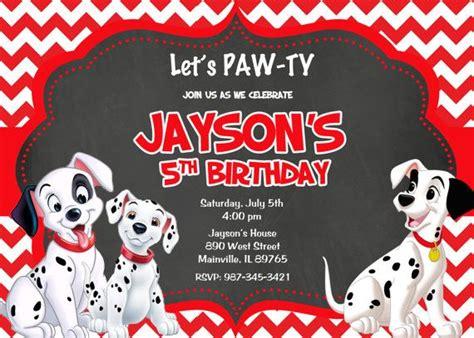 theme changer line 101 dalmatians 101 dalmatians birthday party invitation ideas bagvania
