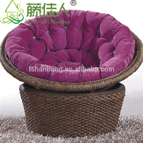 wicker moon chairs for adults water hyacinth rattan living room large leisure