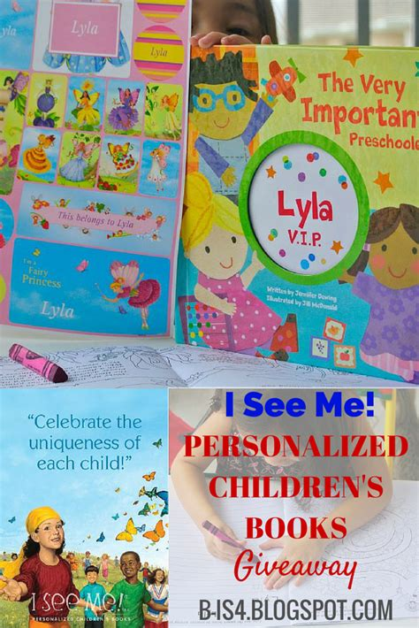 personalized children books with their picture b is 4 personalized children s books giveaway