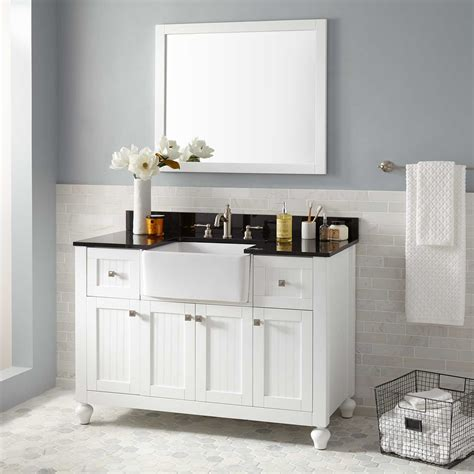 Farm Sink Bathroom Vanity by 48 Quot Nellie Farmhouse Sink Vanity White Bathroom