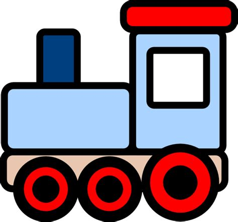 Clipart Trains blue clip at clker vector clip
