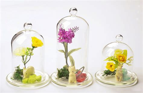 Flower Vase Decoration Home 1pc Creative Decorative Beautiful Fashion Table Top Glass Cap Cover Flower Vase Home