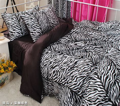 Zebra Print Bedding Sets Colorful Mart Princess Korean Style Brown Zebra Print Bedding Set