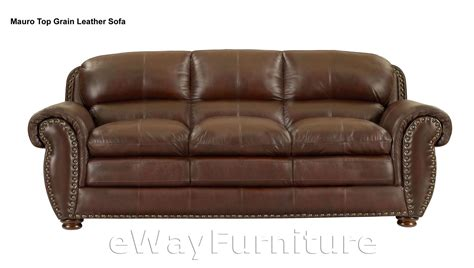 top grain leather sofas mauro top grain leather sofa