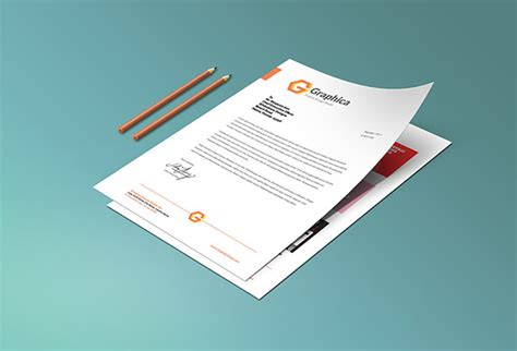 Business Letterhead Mockup 10 Free Psd Letterhead Mockups Freecreatives